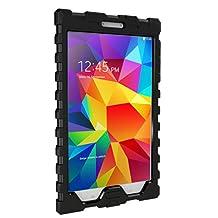 Hard Candy Cases Samsung Galaxy Tab 4 8-Inch Shock Drop, Black (SD-SAM48-BLK-BLK)