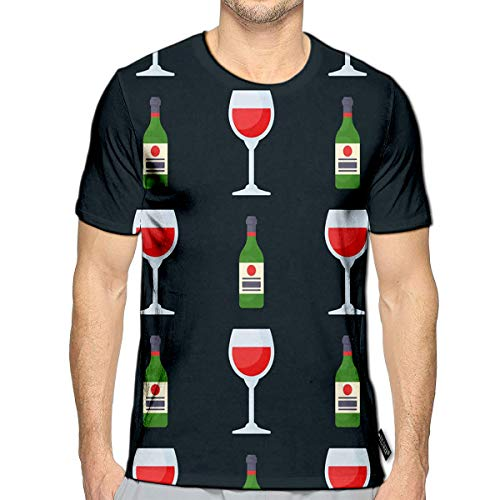 YILINGER T-Shirt 3D Printed Alcohol Drinks Beverages Cocktail Bottle Drunk Glasses Casual Tees a