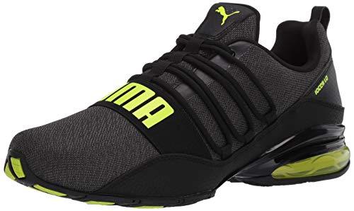 PUMA Men's Cell Regulate Sneaker, Black-Yellow