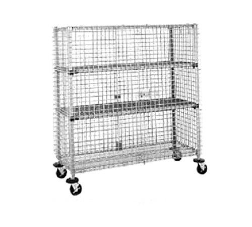 Metro SEC33EC Super Erecta Chrome Plated Heavy Gauge Wire Mobile Security Storage Unit, 900 lbs Capacity, 40-3/4