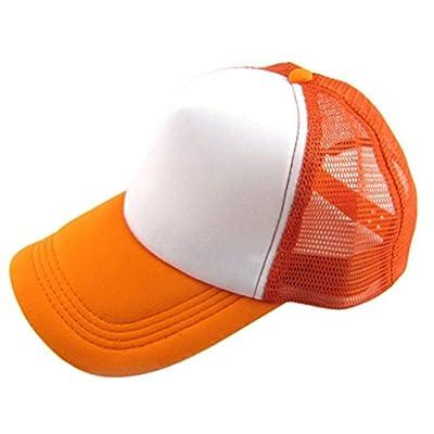 Clearance IEason Unisex Casual Hat Solid Baseball Cap Trucker Mesh Blank Visor Hat Adjustable