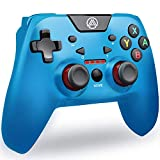 Switch Pro Controller PC Controller, A.A PC Game Controller Game Controller for Switch with Dual Shock & Adjustable Turbo Function High Performance Wireless Switch Controller PC Game Controller?Blue?