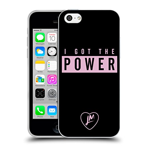 Official Little Mix Power Lyrics And Logo Soft Gel Case for iPhone 5c