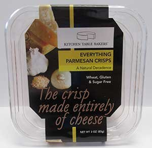 Kitchen Table Bakers: Everything Parmesan Crisps 3 Oz (12 Pack)