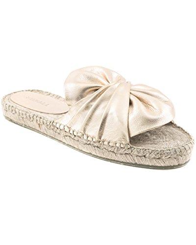 Sonali Sandal Espadrille Femme Espadrilles Doré Flat Sally 0Hrt8q0