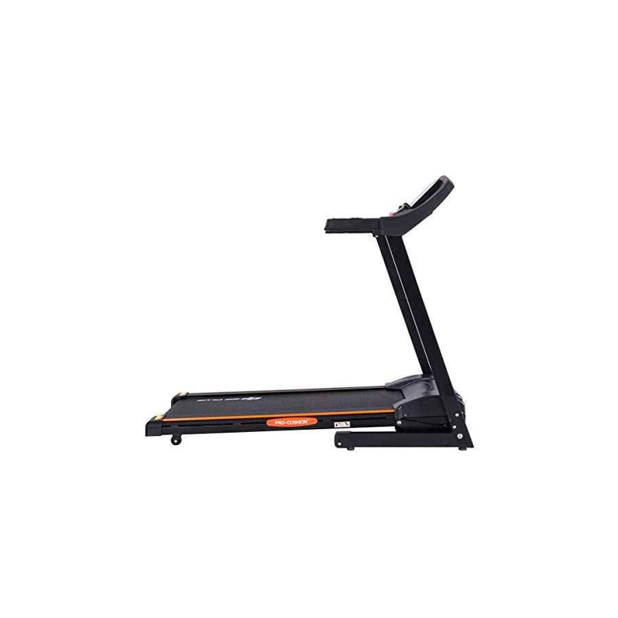 Goplus 2.5HP Folding Treadmill Electric Incline Jogging Running Fitness Machine w/App Control, Large LCD Display Black Jaguar Ⅲ