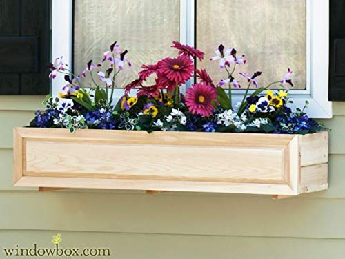 Raised Panel Cedar Window Box w/Cleat mounting System 38 inches