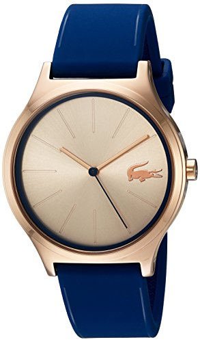 Lacoste Women's 'Nikita' Quartz Gold and Silicone Casual Watch, Color:Blue (Model: 2000944)