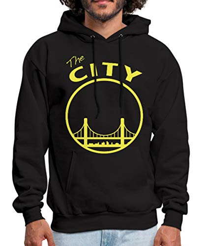 Spreadshirt San Francisco The City Silhouette Men's Hoodie, XL, Black (Hoodie Mens Silhouette)
