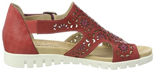 Rouge Laura Rouge Vita Tacco Scarpe Donna Dobby col 01 Rosso zAxST7z