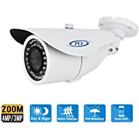 PLV 4MP Zoom HD 1520P Onvif Indoor Outdoor POE Bullet IP Camera 2.8~12mm Motorized Zoom Lens H.265 Night Vision