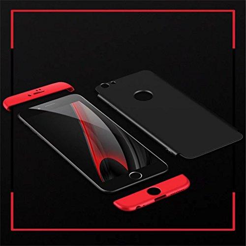 Fanxwu Samsung Galaxy A8 2018 Funda 360 Grados de Protección 3 en 1 combinación Case Ultra Delgado Resistente a Los Arañazos Protectora Cáscara - Oro Oro Rosa