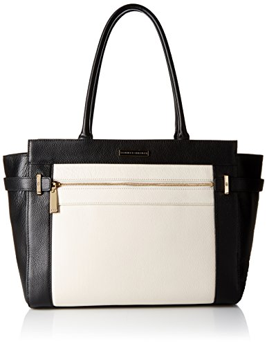 Tommy Hilfiger Tote Bag for Women Savanna, Black/Winter White