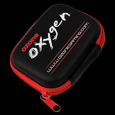 Ozone Oxygen - Auriculares in-ear (con micrófono, 3.5 mm), negro y rojo: Amazon.es: Electrónica