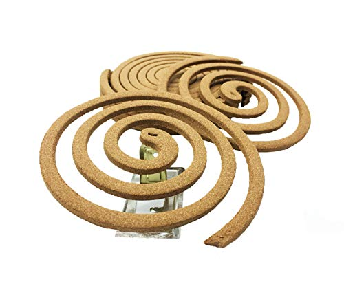 Natural Coils - Green Natural Mosquito Sticks Citronella Lemongrass - Non Toxic - All Natural - No Deet - Pack of 6 Pairs