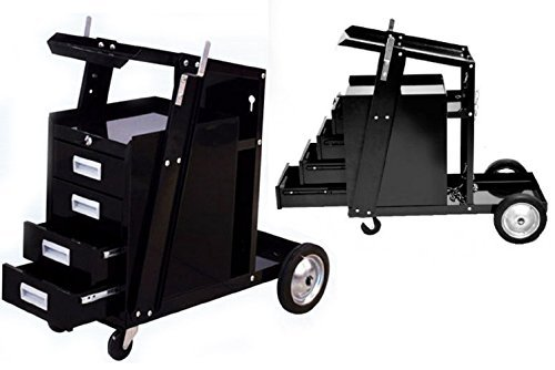 Universal Welding Cart W 4 Drawer Cabinet Mig Tig Arc Plasma Cutter Tank Storage by JDM Auto Lights by JDM Auto Lights