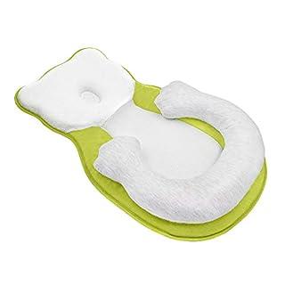 Unisex Infant Support Newborn Lounger Pillow Cute Bear Comfort Newborn Baby Nest Portable Snuggle Bed Mattress Prevent Flat Head Pillow Head Support for 0-6M Newborn Infant Yellow