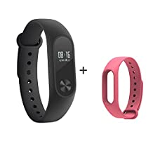 Xiaomi Band 2,Smart Wristband With Pink Strap,Mi band 2 Bracelet With Smart Heart Rate Touchpad OLED Screen