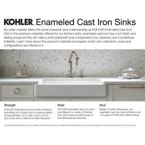 KOHLER K-5846-5U-0 Brookfield Under-Mount Double-Equal Bowl Kitchen ...