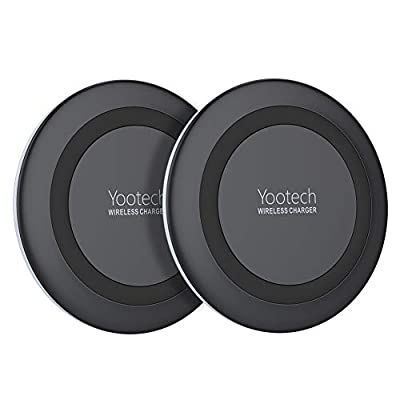 Yootech [2 Pack] Wireless Charger Qi-Certified 7.5W Wireless Charging Compatible with iPhone Xs MAX/XR/XS/X/8/8 Plus,10W for Galaxy Note 9/S9/S9 Plus,5W All Qi-Enabled Phones (No AC Adapter)