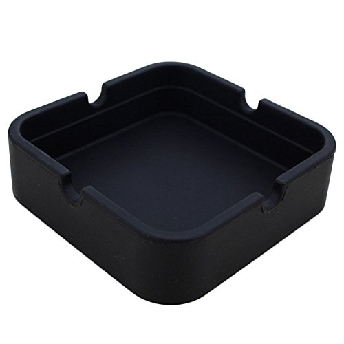Topbeu Square Cigarette Ashtray Outdoors Indoors Ash Tray Ash Holder For Smokers...