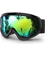 findway Skibrille Kinder, Skibrille Schneebrille Verspiegelt Snowboard Brille Helmkompatible Snowboardbrille Kinder für Kinder Jungen Mädchen 4 5 6 7 8 9 10 11 12 Jahre Ski Goggles Kids für Skaten