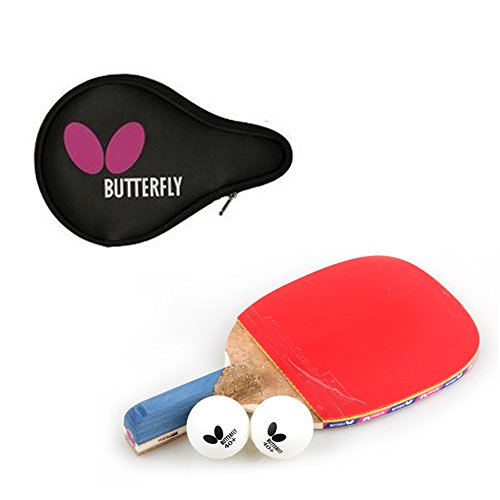 Butterfly NAKAMA P-10 Table Tennis Racket Paddle (Penholder) + Logo Full case