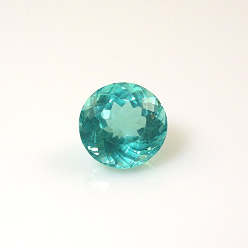Paraiba Color Apatite Round 9mm Single Piece Approximately 3.36 Carat Beautiful Color Nice Luster (9588)