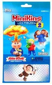 Topps Garbage Pail Kids Series 2 MiniKins Mini Figures JUMBO PACK [3 Mystery & 1 Visable Figure]