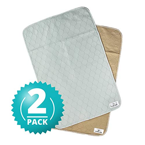 Pet Parents Washable Dog Pee Pads (2pack) of (24x36) Premium Pee Pads for Dogs, Waterproof Whelping Pads, Reusable Dog Training Pads, Quality Travel Pet Pee Pads. Modern Puppy Pads! (1 Tan & 1 Grey)
