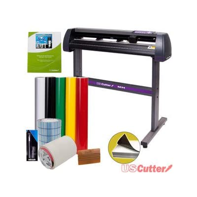 Vinyl Cutter USCutter MH 34in BUNDLE - Sign Making Kit w/ Design & Cut Software, Supplies + Tools