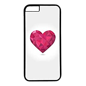 Unique Design Case for iphone 6,Black Plastic Case Back Cover for iPhone 6 with Love