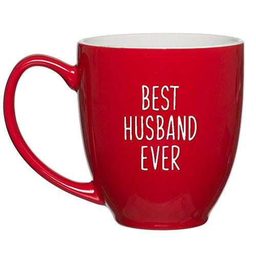 HUHG Best Husband Ever Red Coffee Mug - Birthday, Christmas or Valentine's Day Gift for Men from Wife