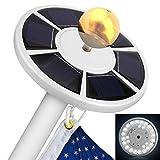 1pc Solar Flag Pole Light 26LED Flagpole Downlight Lighting Night Light for 15
