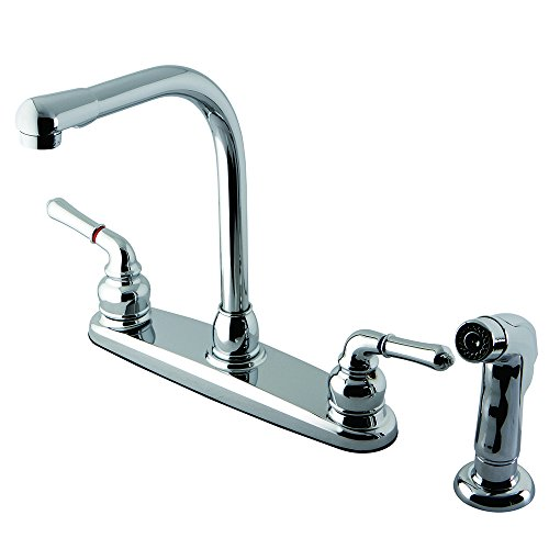 Polished Brass Magellan High Arch Kitchen Faucet With Sprayer