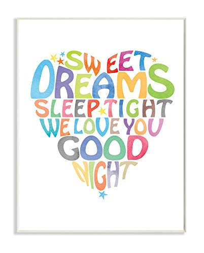 The Kids Room by Stupell Sweet Dreams Heart Graphic Art Wall Plaque, 11 x 0.5 x 15, Proudly Made in USA by The Kids Room by Stupell