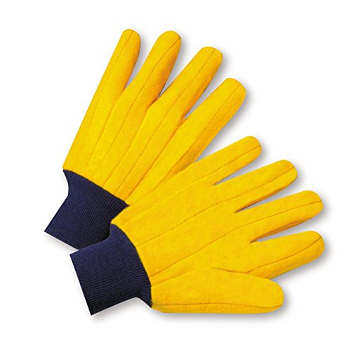 West Chester FM18KWK Full Chore Glove, L, Yellow (Pack of 12)