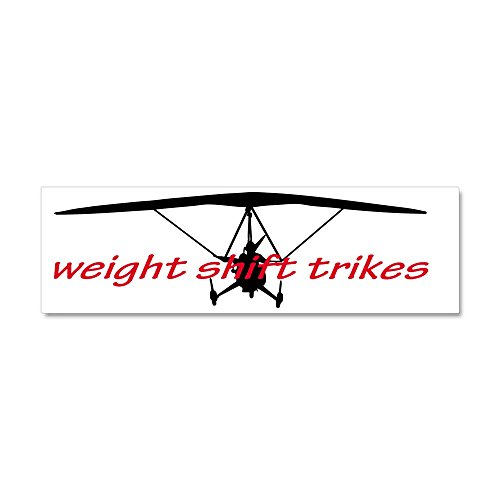 CafePress - Weight Shift Trike headon Car Magnet 10 x 3 - Car Magnet 10 x 3, Magnetic Bumper Sticker