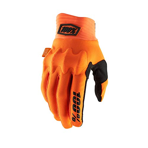 100% Cognito Men's Off-Road Motorcycle Gloves - Fluorescent Orange/Black/Large