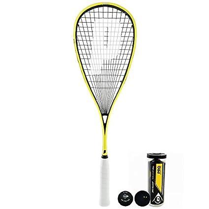 Prince Pro Rebel 950 Raqueta De Squash + Dunlop Pro Pelotas De Squash 3, 6