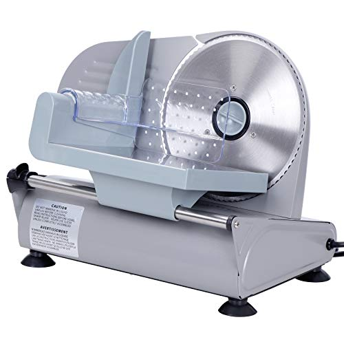 ZENY Professional Stainless Steel Electric Meat Slicer Food & Vegetable Cutter with Removable 7.5