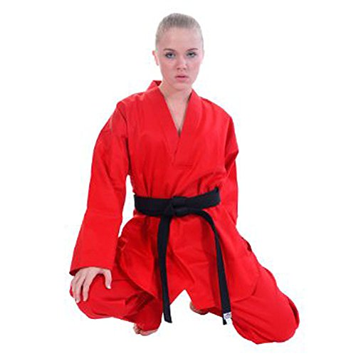 Tiger Claw Traditional Karate Uniform (Red, 1) (Apparel Tiger Black)