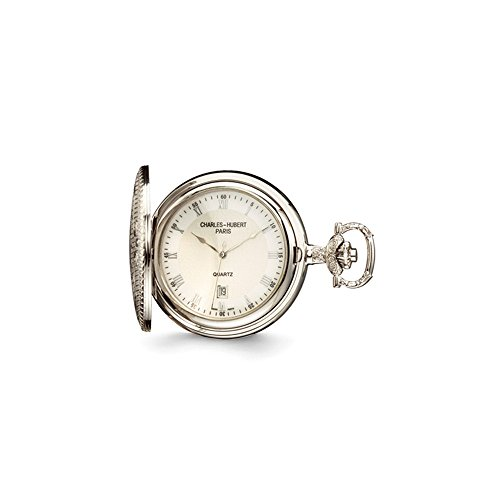 Charles Hubert Chrome Finish Brass w/Shield Pocket Watch ()