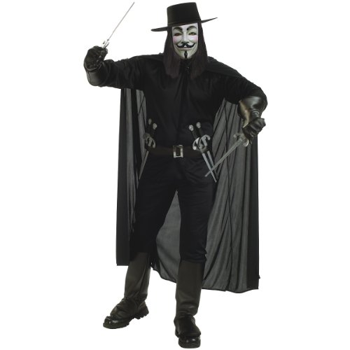 V For Vendetta Costume Wig (V For Vendetta Adult Costume - Standard)