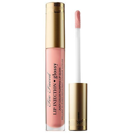 Too Faced Lip Injection Glossy Juicy Color Plumping Lip Gloss in Angel Kisses (Pale Pink) 0.14 FL OZ by Too Faced