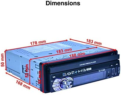 RK-7158G Autoradio 1 DIN Touch Screen 7 MP5 Bluetooth GPS Supporto Retrocamera