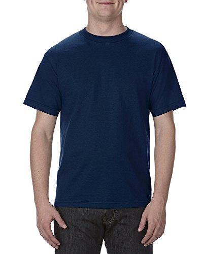 (Alstyle Apparel AAA Mens Classic Cotton Short Sleeve T-shirt, Navy, 2XL)