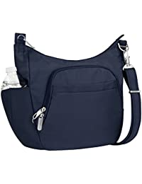 Anti-Theft Cross-Body Bucket Bag, Midnight, One Size