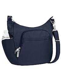 Travelon Anti-Theft Cross-Body Bucket Bag, Midnight, One Size
