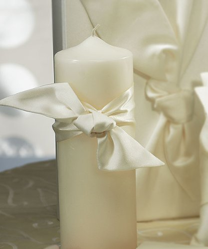 Beverly Clark Tie The Knot Collection Weddingstar Unity Candle, White